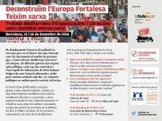 Trobada Mediterrània: Deconstruïm l'Europa Fortalesa