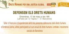 Defendemos los derechos humanos. Taller de intercambio de experiencias