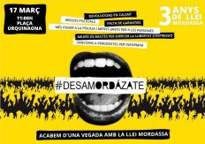 #Desamordázate. Acabemos de una vez con la Ley Mordaza