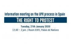 El derecho a la protesta en España. Debate en el Consejo de Derechos Humanos en el marco del EPU a España