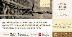 Desplaçament forçat i trànsit migratori en les fronteres internes i externes de la Unió Europea: anàlisi, context i situació actual