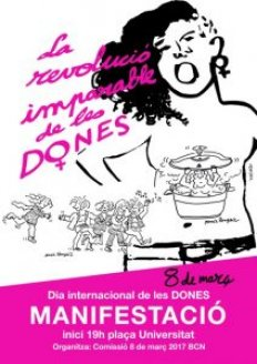 Manifestació dia internacional de la dona