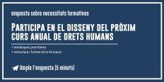 Participa en el disseny del pròxim curs anual de drets humans