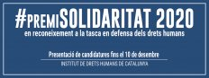 Envia la teva proposta al #PremiSolidaritat 2020