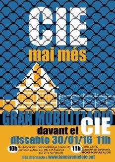 Mobilització amb Judici Popular al CIE de Barcelona