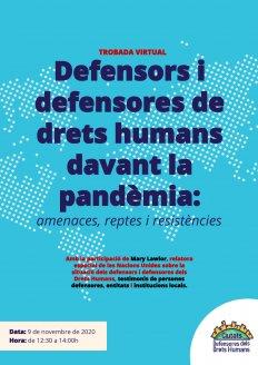 [Encuentro virtual] Defensores y defensoras de derechos humanos ante la pandemia: amenazas, retos y resistencias.