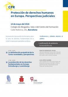 Protecció del drets humans a Europa. Perspectives judicials