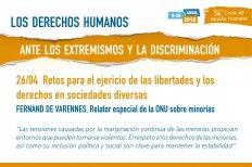 Retos para el ejercicio de las libertades y los derechos en sociedades diversas. Conferencia del relator especial de la ONU sobre minorías