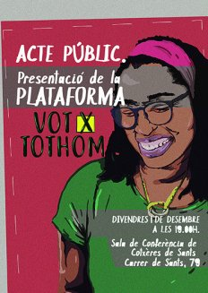 VotxTothom. Presentació de la Plataforma pel Dret a Vot de les Persones Estrangeres