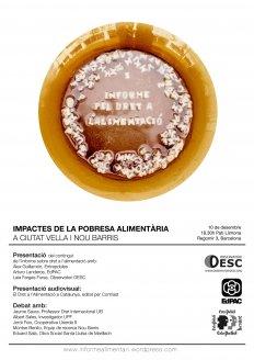 Presentación del Informe sobre el derecho de alimentación en Cataluña
