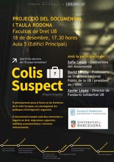 Projecció del documental Colis Suspect (Paquet Sospitós) i taula rodona
