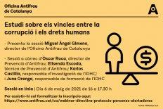 [Presentació] Estudi sobre els vincles entre corrupció i drets humans