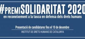 Envia tu propuesta al #PremiSolidaritat 2020