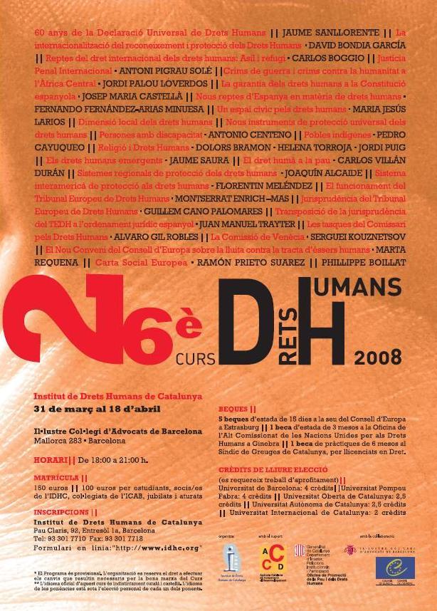 26è Curs Anual de Drets Humans