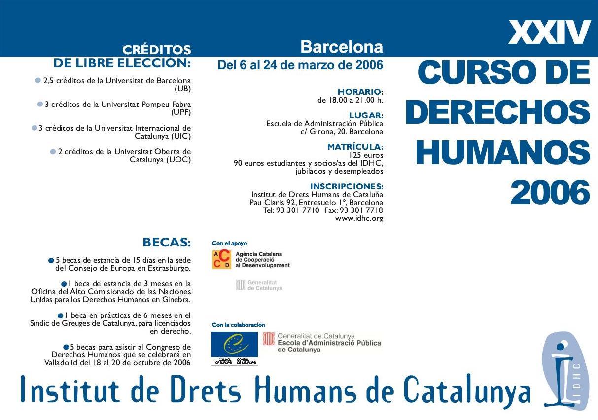 24è Curs Anual de Drets Humans