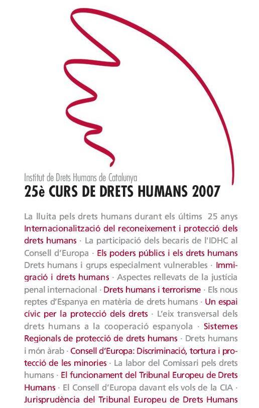 25è Curs Anual de Drets Humans