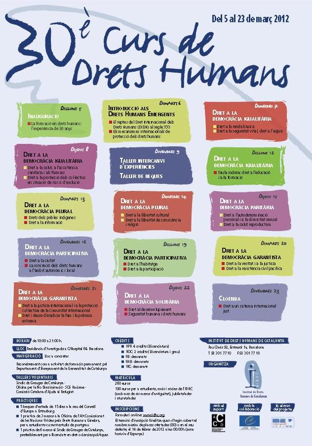 30è Curs Anual de Drets Humans