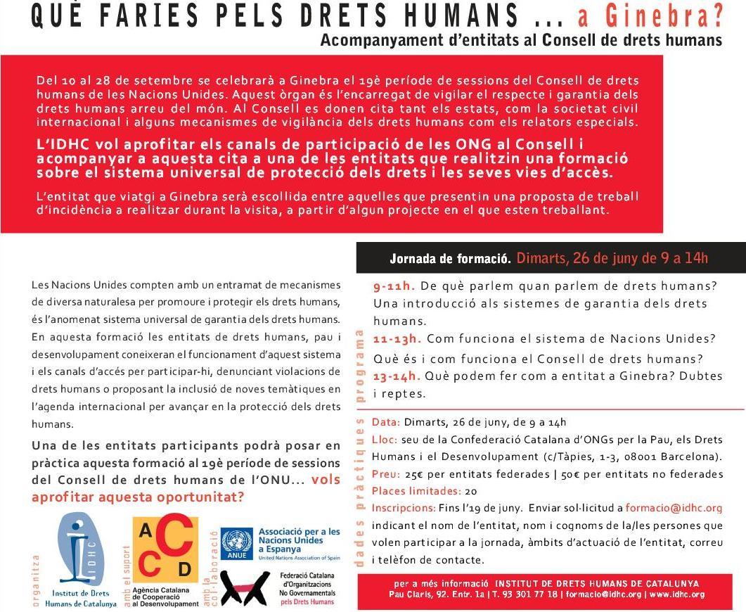 Què faries pels Drets Humans a... Ginebra?
