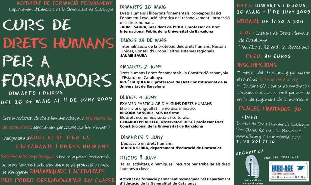 Curs de Drets Humans per a Formadors