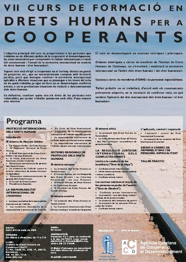 7º Curso de Formación en Derechos Humanos para Cooperantes