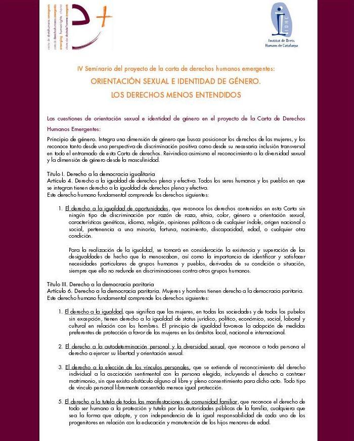 Seminari Taller - Orientació Sexual i Identitat de Gènere. Els Drets Humans menys entesos