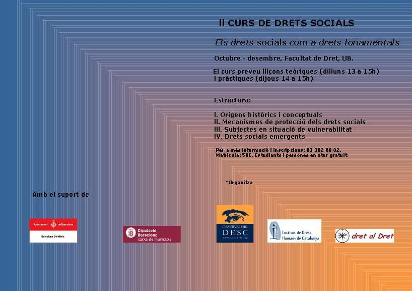 2n Curs de Drets Socials