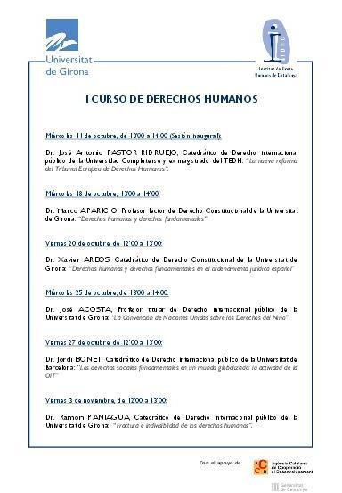 1r Curso de Derechos Humanos