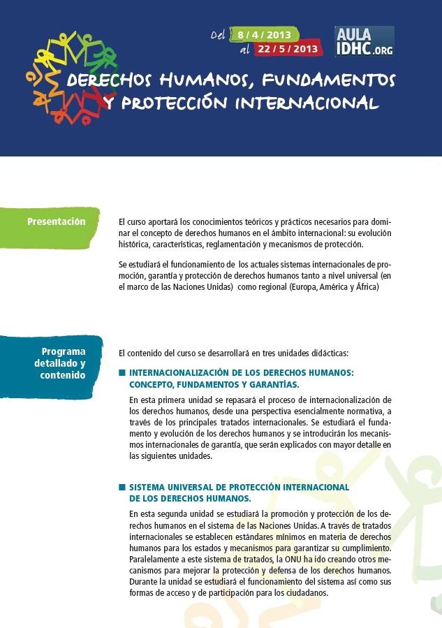 Drets humans, fonaments i protecció internacional