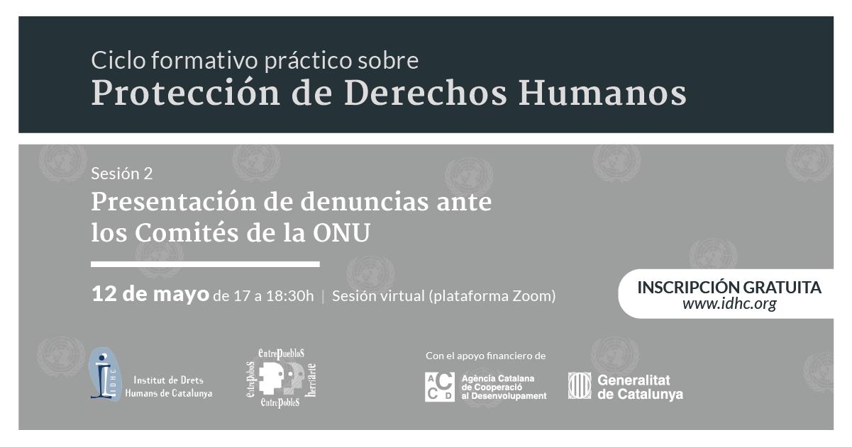 [Ciclo formativo práctico sobre protección de derechos humanos] Sesión II:  Presentación de casos de vulneración y violación de DH ante los Comités de la ONU