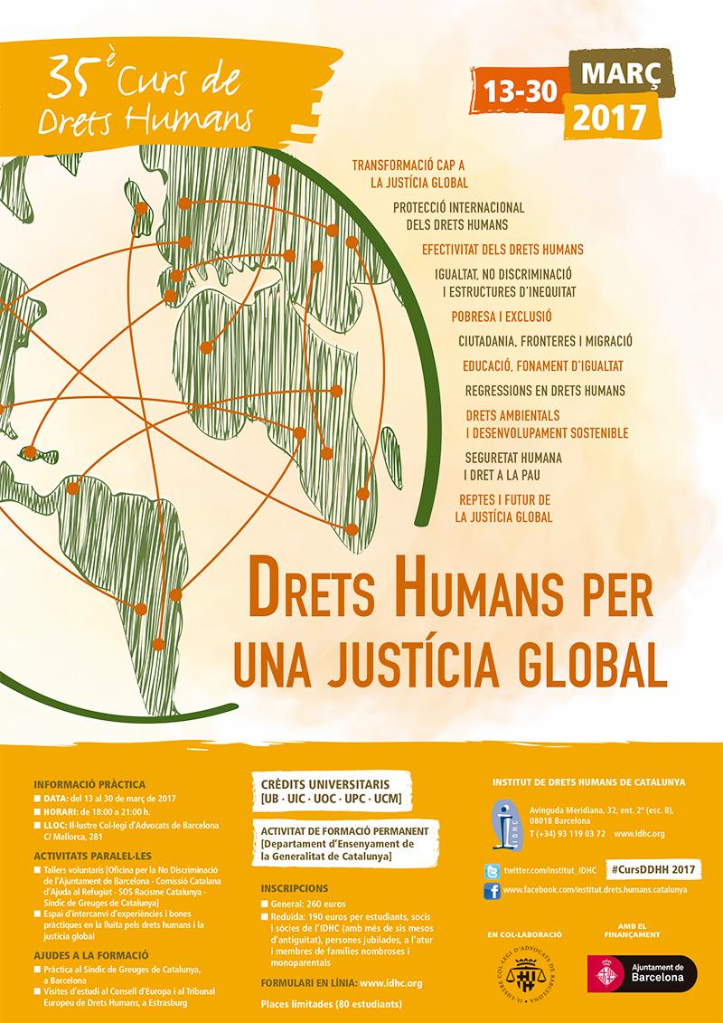35º Curso Anual de Derechos Humanos 2017. Derechos Humanos para una justicia global