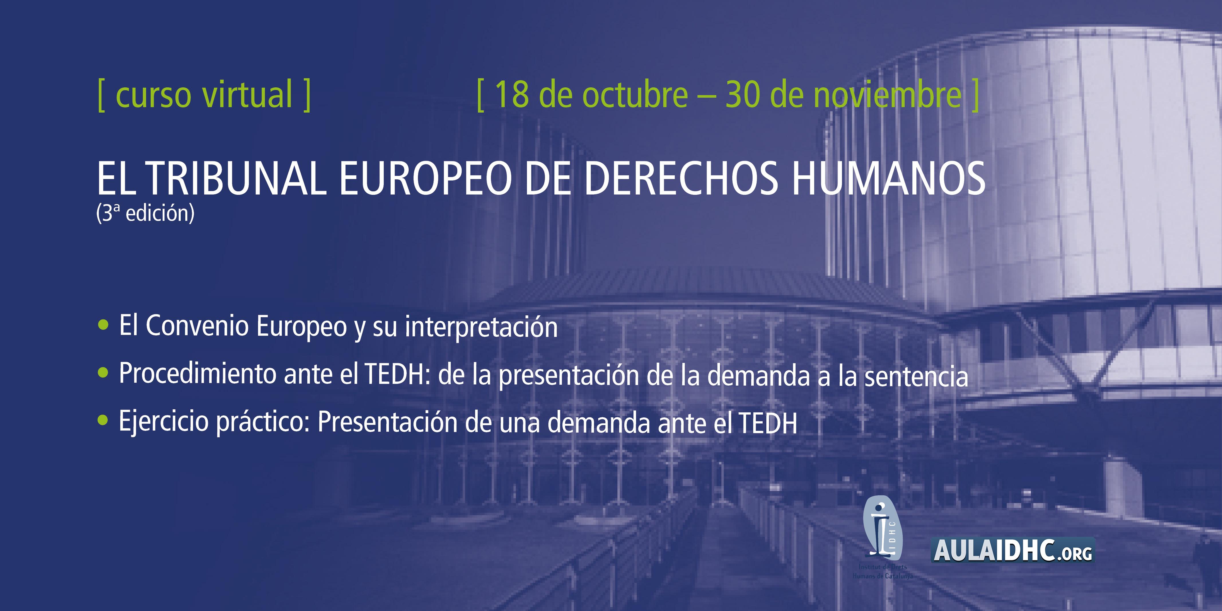 El Tribunal Europeu de Drets Humans: funcionament, procediment d'accés i jurisprudència (3a edició)