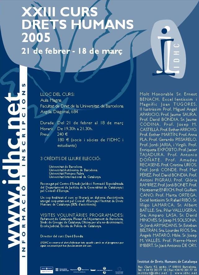23è Curs Anual de Drets Humans