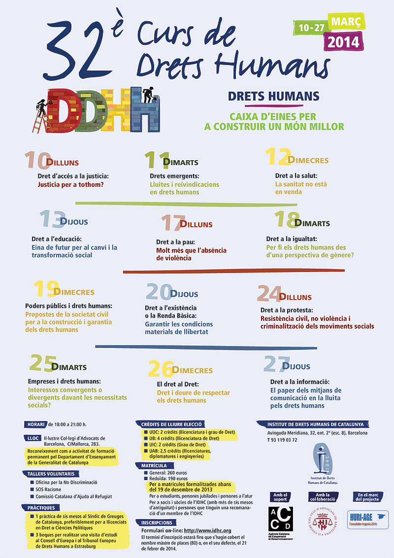 32è Curs Anual de Drets Humans