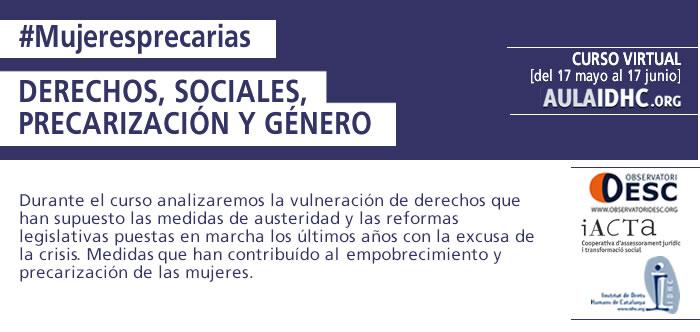 Derechos Sociales, Precarización y Género