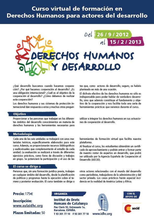 Formació en drets humans per a actors del desenvolupament