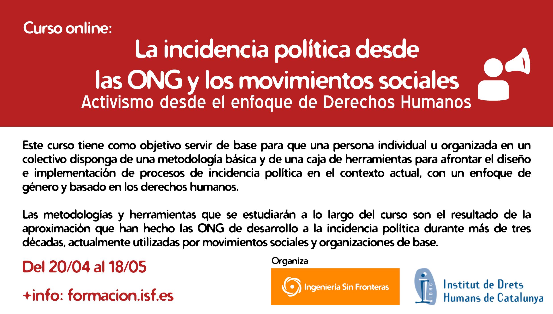 La incidència política des de les ONG i els moviments socials (3a edició)