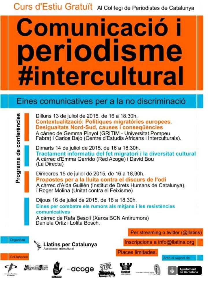 Curs d'Estiu Gratuït: Comunicació i periodisme #intercultural