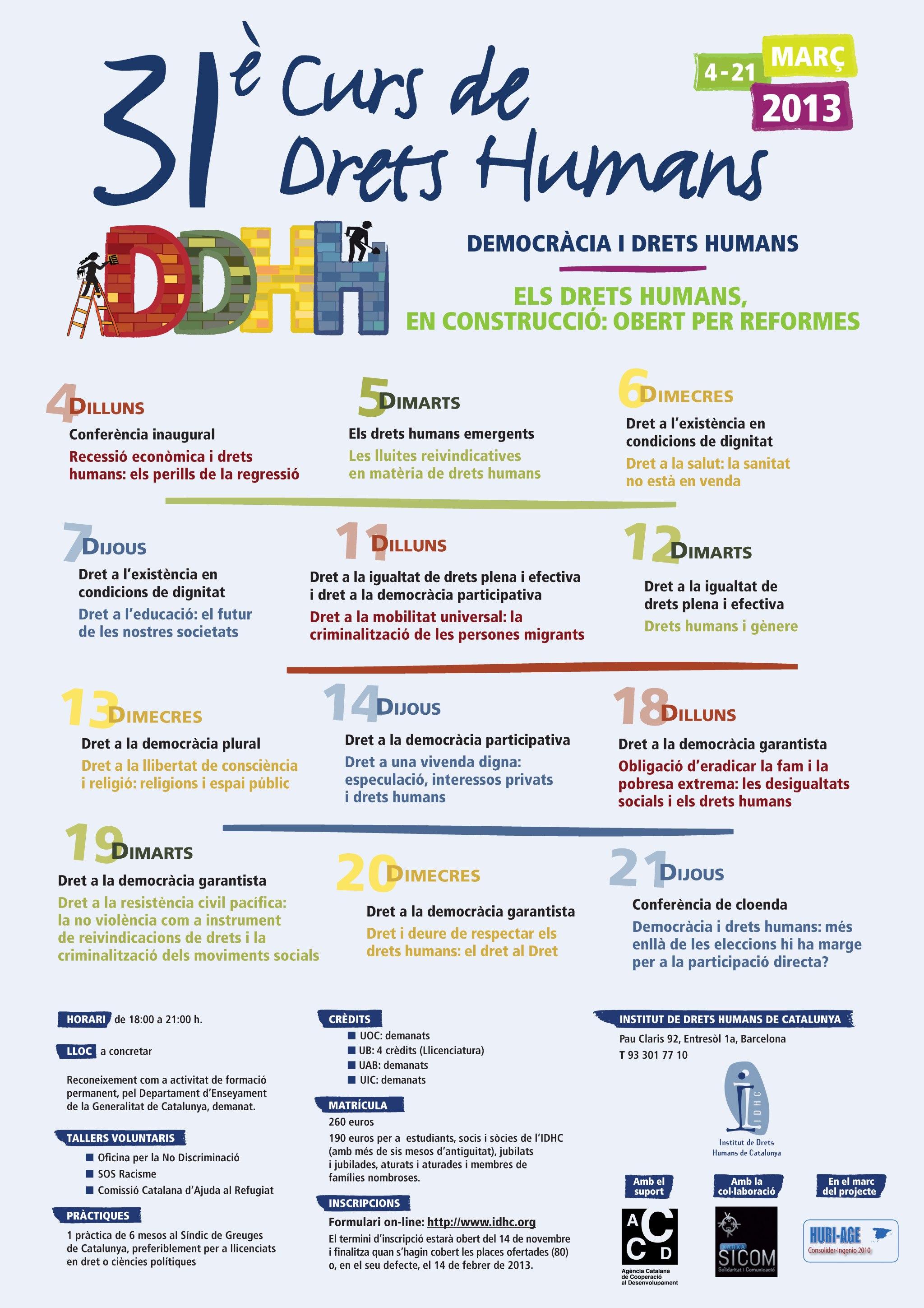 31è Curs Anual de Drets Humans