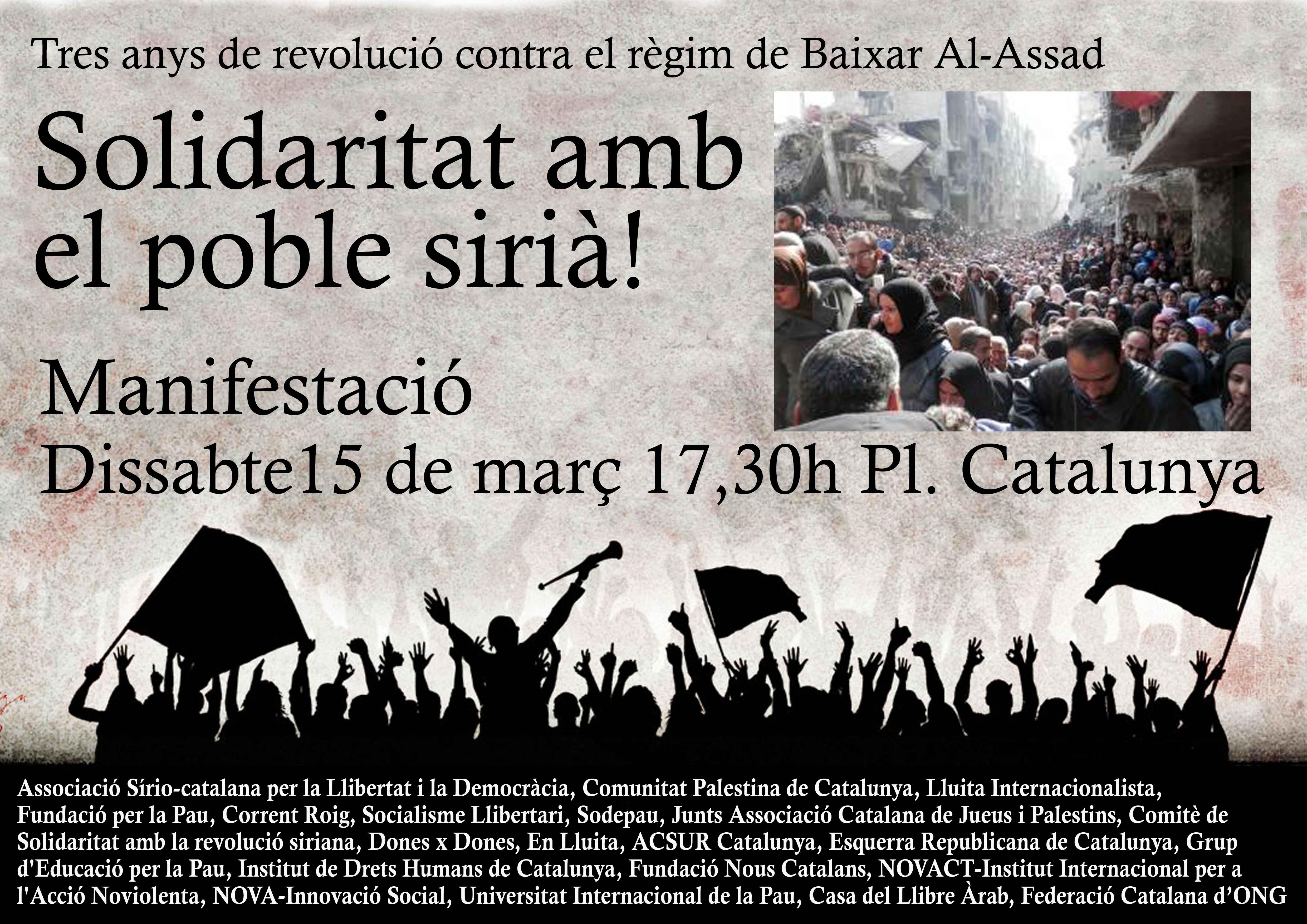 Solidaritat amb el poble de Síria en el tercer aniversari de la revolució
