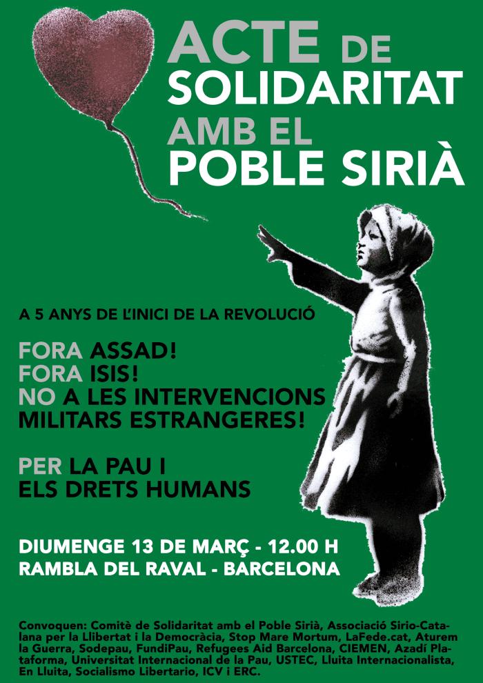 Solidaritat amb el poble de Síria, 2016