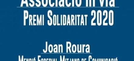L'Associació in via, guardonada amb el Premi Solidaritat 2020