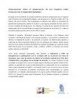 Informe: Observaciones sobre el anteproyecto de Ley Orgánica sobre Protección de la Seguridad Ciudadana