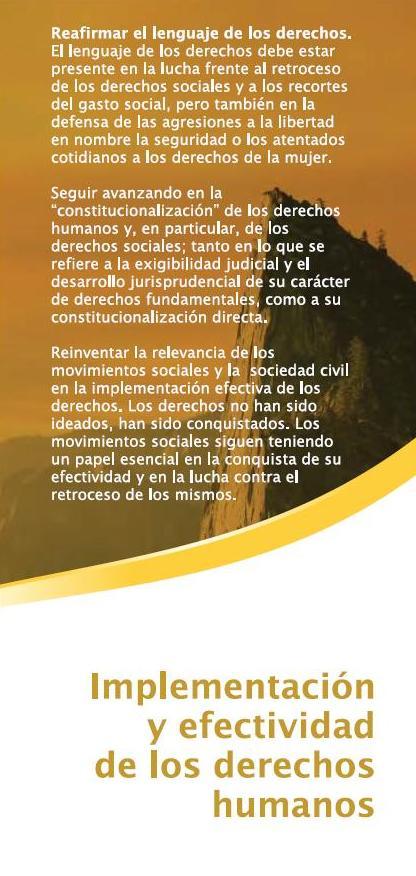 Implementación y efectividad de los derechos humanos