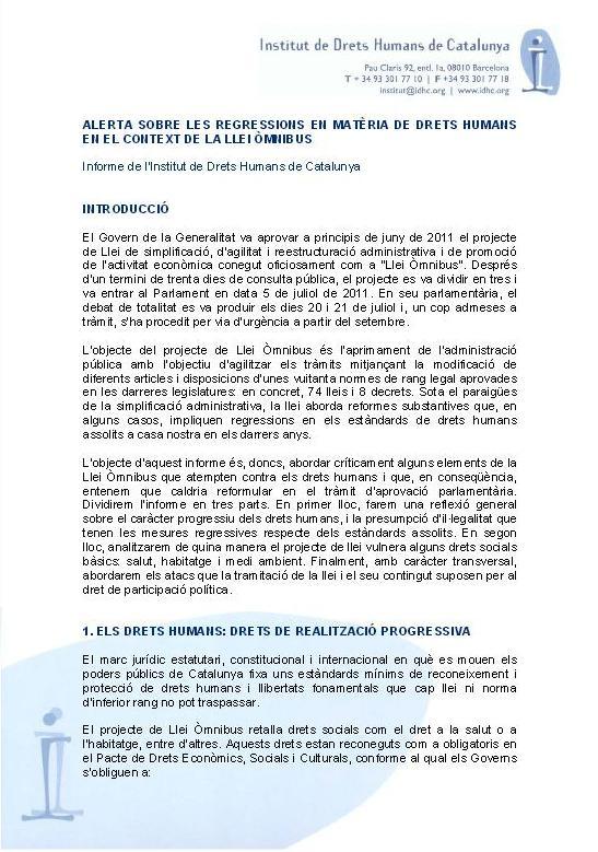 Alerta sobre las regresiones en materia de derechos humanos en el contexto de la Ley Ómnibus