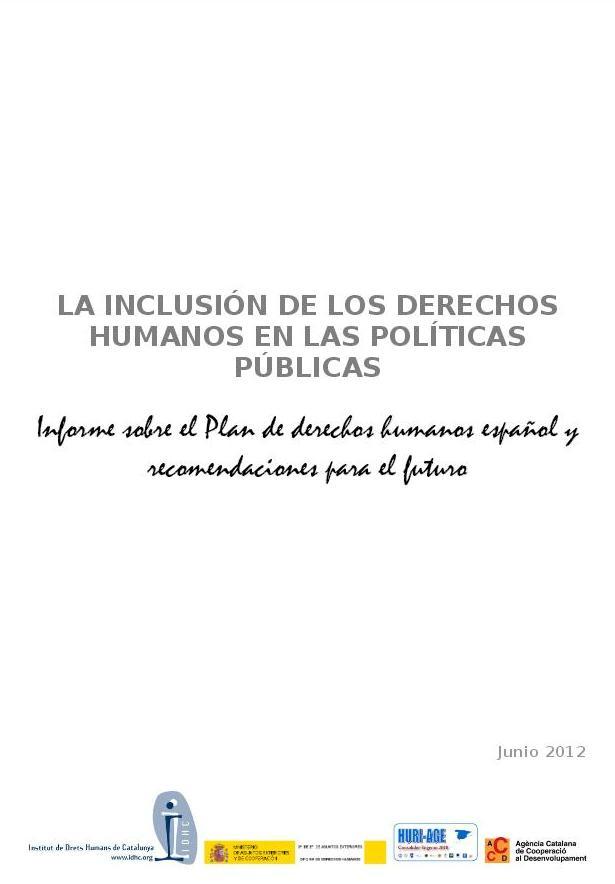 La inclusió dels drets humans a les polítiques públiques